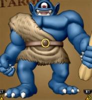 ポポリアきのこ山で戦う青の巨人ブルメル