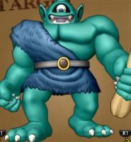 ポポリアきのこ山で戦う緑の巨人グリモア