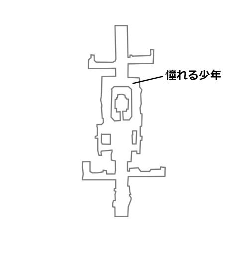 迷イ人憧れる少年の場所を記したマップ