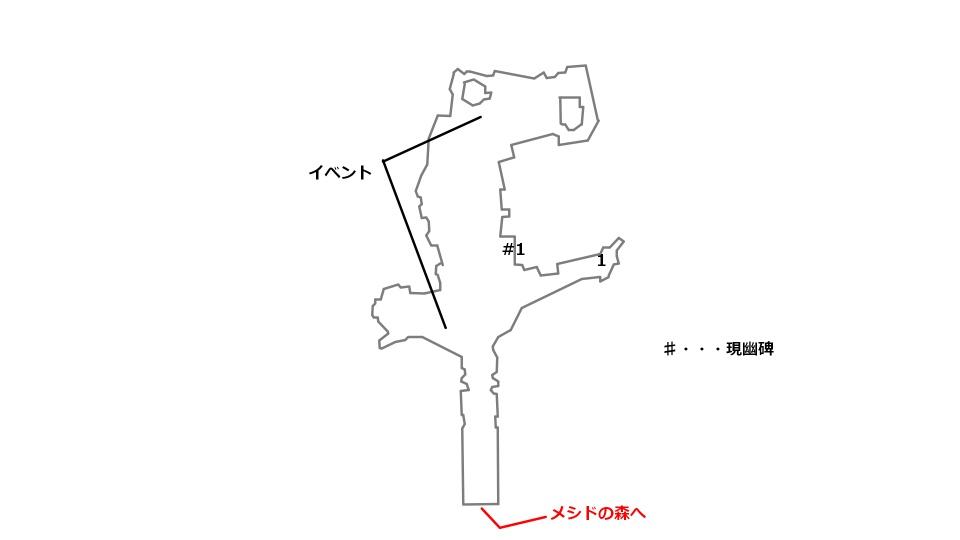 スゴ村の宝箱の場所を記したマップ