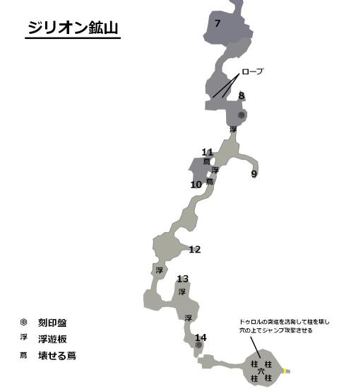 7章ジリオン鉱山マップ