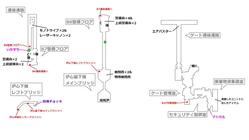 FF7リメイクマップ7-3