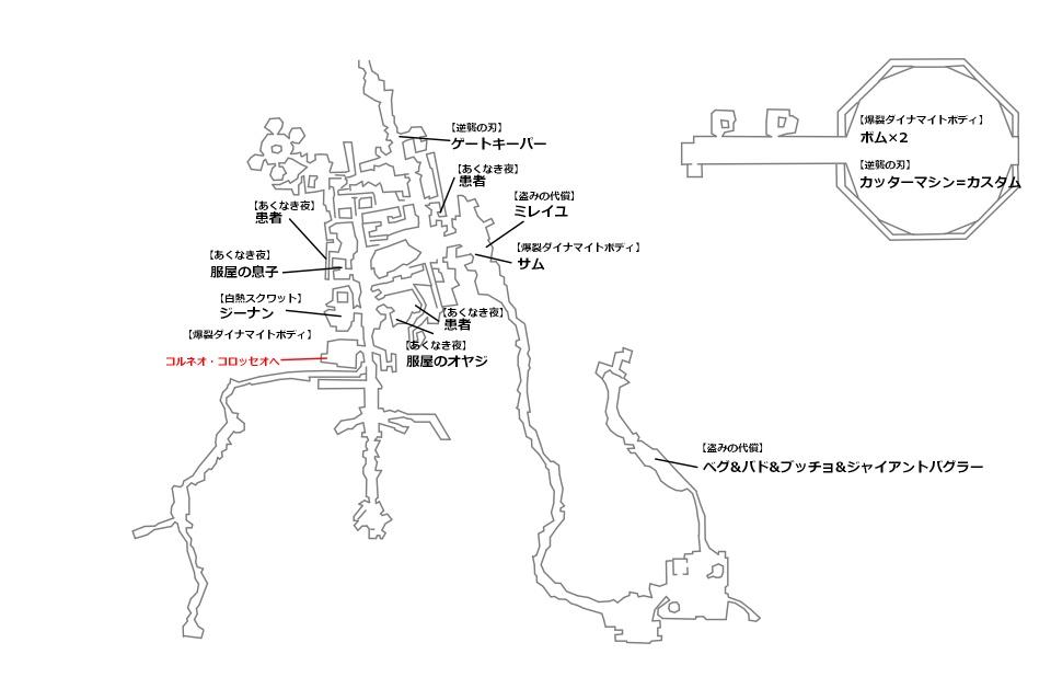 FF7リメイク9章クエストマップ