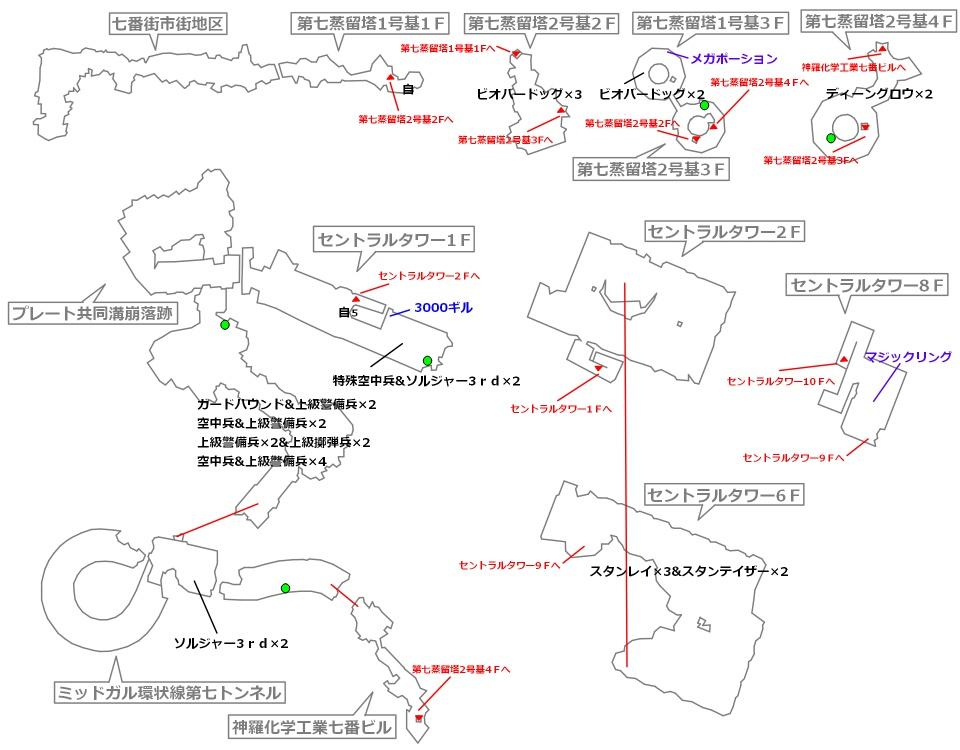 FF7リメイクマップ14-1