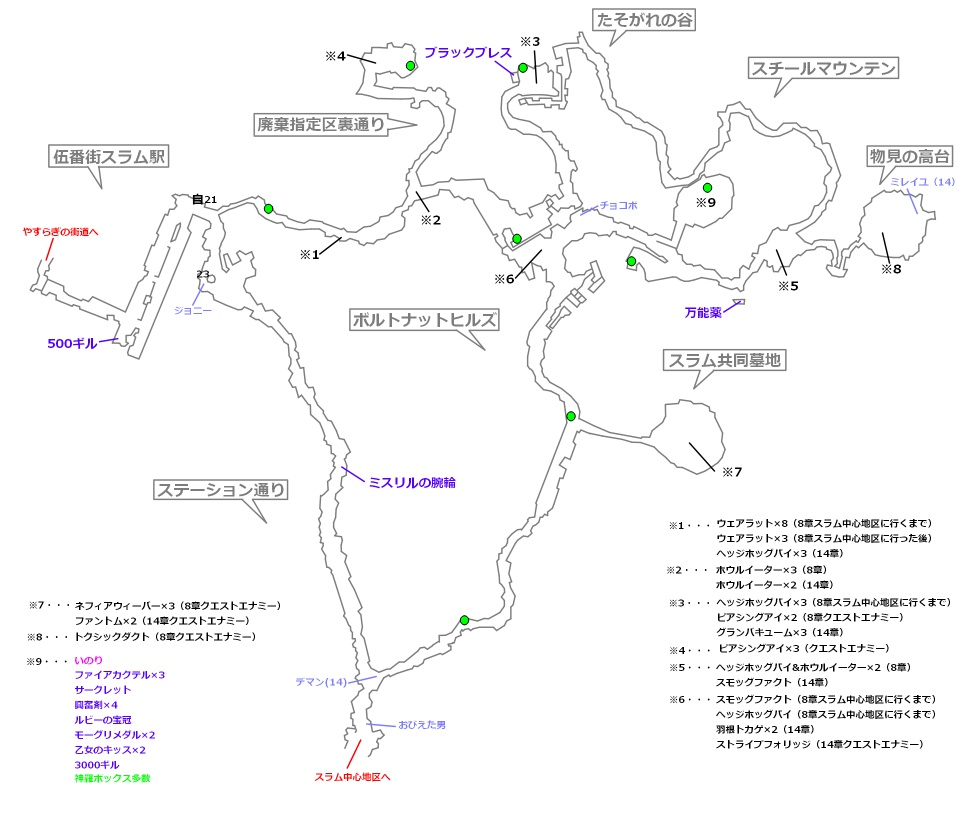 FF7リメイクマップ8-2