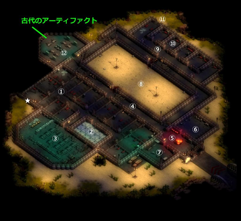 ゼイアービリオンズキャンペーン刑務所マップ