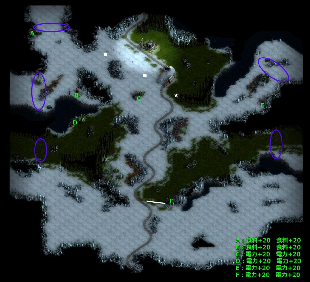 ゼイアービリオンズキャンペーン巨人の荒野マップ